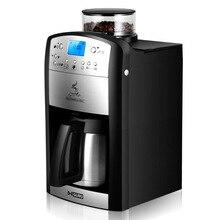 ماكينة القهوة الأمريكية التلقائية 220 فولت للمنزل مكتب صانع القهوة طحن الفول جعل القهوة الحفاظ على الحرارة الاتحاد الأوروبي التوصيل