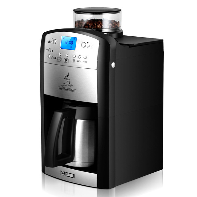 220v Automatic American Coffee Machine For Home Office Maker Grinding Beans Make