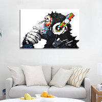 Abstract Canvas Painting Watercolor Orangutan Wall Poster DIY Art Pictures Home Decor No Frame Paintings By