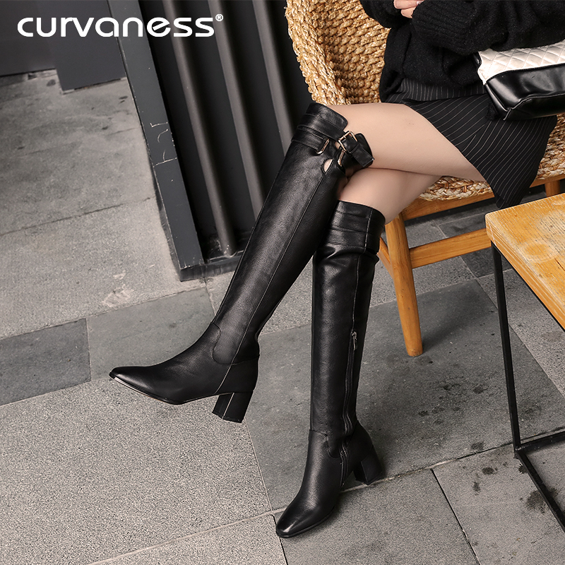 b7bc8d19dc58 Curvaness New Brand Sexy Women s Boots Fashion High Heel Shoes Women  Stretch Boots Conjoined Boots Two. US  64.43. (2). 5 orders. Curvaness  Buckle Natural ...