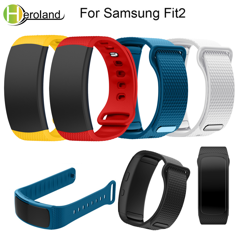 Strap For Samsung Galaxy Gear Fit2 SM-R360 Wristband Color Bracelet Sport Replacement Smart Watchband Silicone Watches New 2018