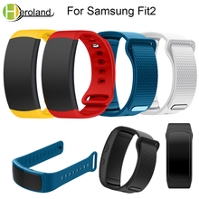 Купить с кэшбэком strap for Samsung Galaxy Gear Fit2 SM-R360 Wristband color bracelet sport Replacement smart watchband Silicone watches new 2018