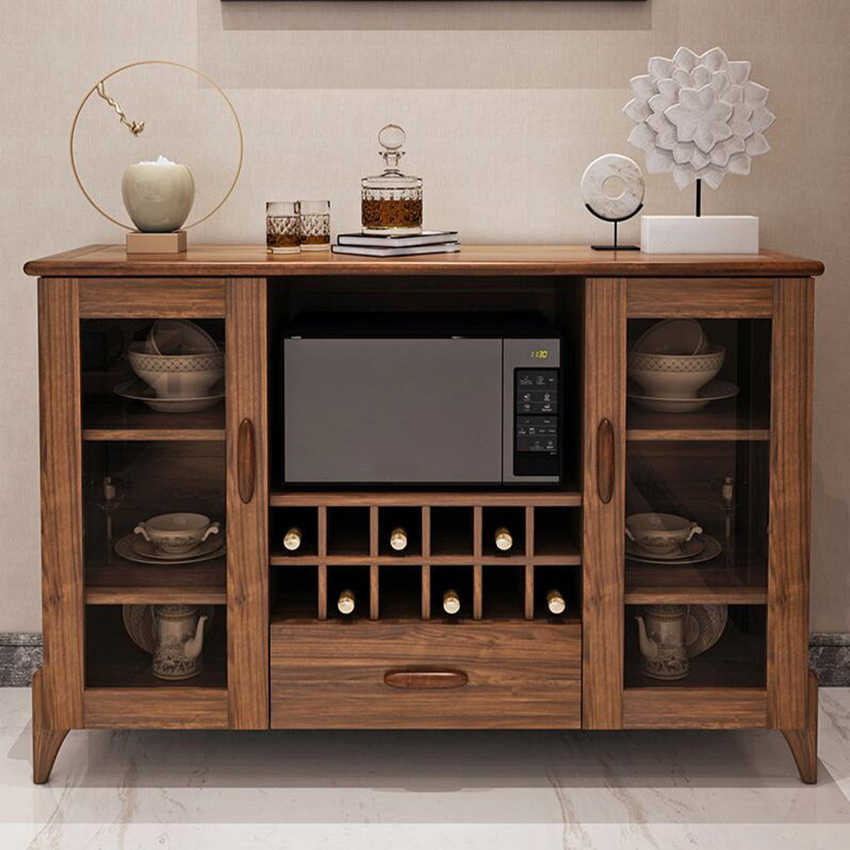H07 08 09 10 Multi Function Cupboard Chinese Style Living Room Small Wooden Cabinets Kitchen Simple Household Hot