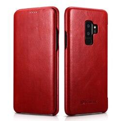 Do Samsung Galaxy S9 oryginalne skórzane etui z klapką etui Slim S9 Plus etui ochronne biznes pokrowiec na telefon dla Samsung S8 S8 Plus