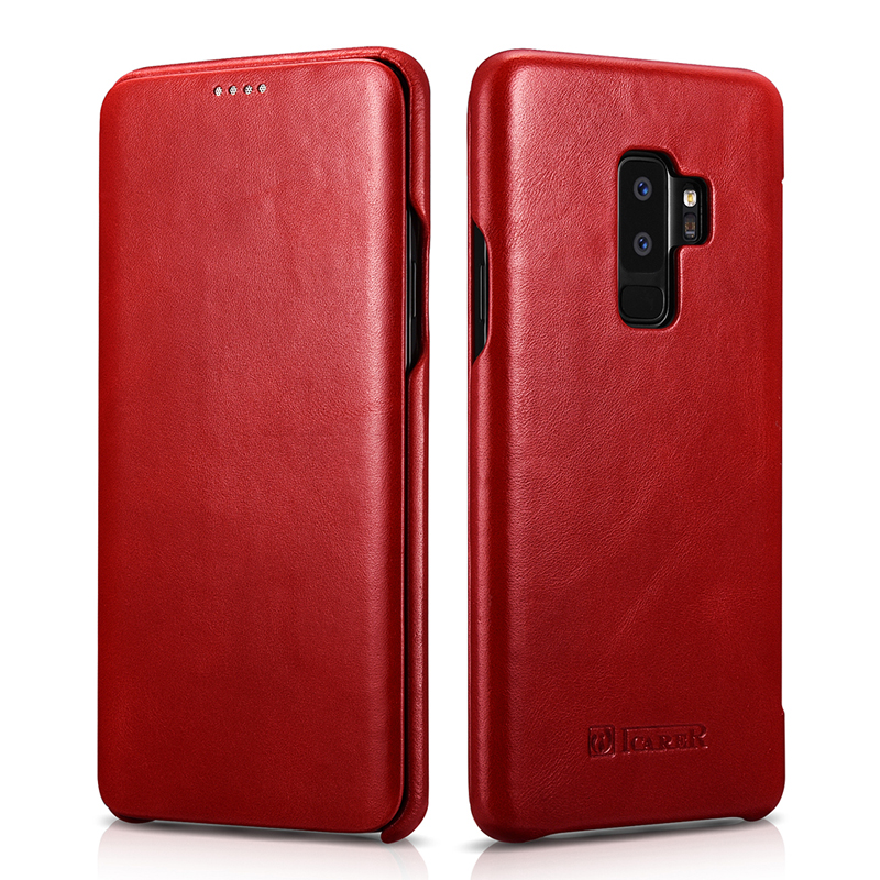 For Samsung <font><b>Galaxy</b></font> <font><b>S9</b></font> Genuine <font><b>Leather</b></font> Flip <font><b>Case</b></font> Slim <font><b>S9</b></font> Plus Protective <font><b>Case</b></font> Business Smart Phone Cover for Samsung S8 S8 Plus image