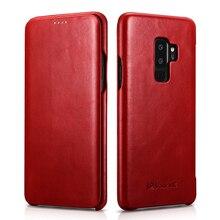 Флип чехол из натуральной кожи для Samsung Galaxy S9, тонкий защитный чехол S9 Plus, деловой чехол для смартфона Samsung S8 S8 Plus