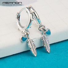 Memnon earrings for women 2018 New summer collection spiritual Feathers Earring 925 sterling silver earing fine jewelry ER0109