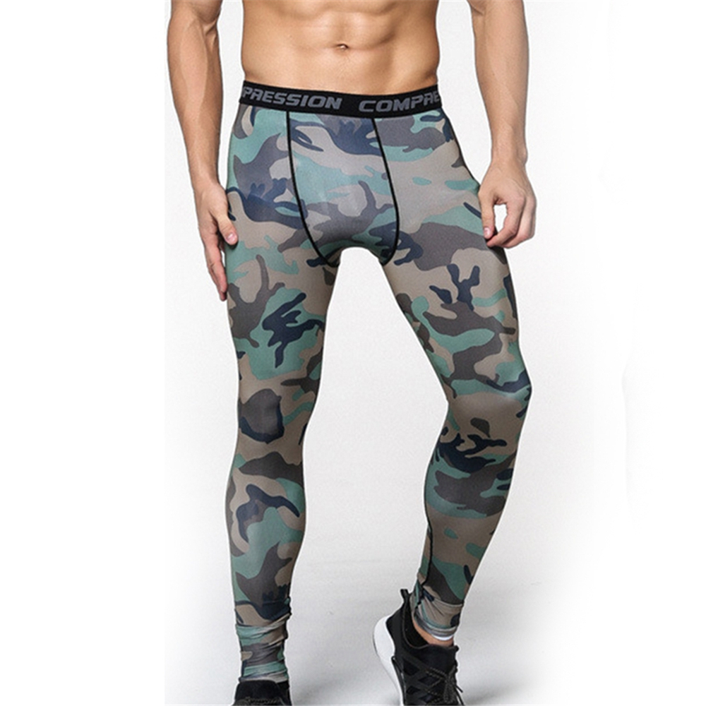 3 color men compression pants 2017 new crossfit tights man bodybuilding pants camouflage running tights jogging skinny leggings