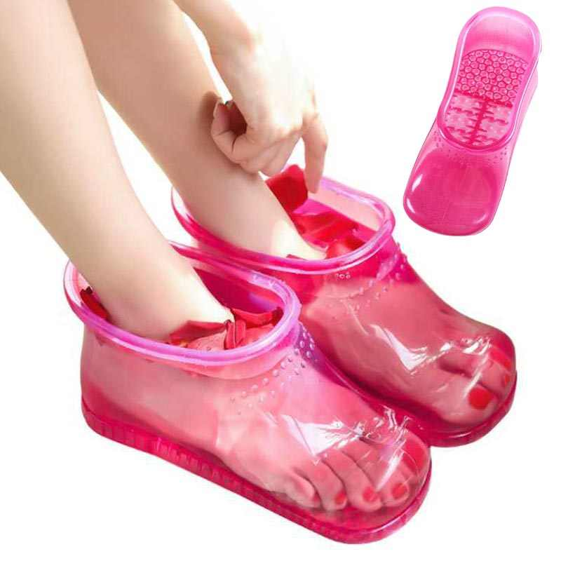Foot Bath cleaner Massage Boots Household Relaxation foot care tool Slipper Shoes Feet Care Compress Foot Soak Theorapy Massager