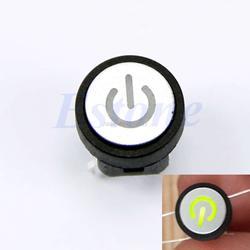 Светодиодная кнопка включения световая кнопка включения Выключатель без фиксации чехол для ноутбука переключатель зеленый