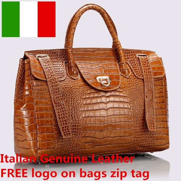 Logo gratuit sacs à main en cuir italien en gros femmes en cuir véritable fourre-tout sacs de voyage sac à bandoulière sac à main décontracté