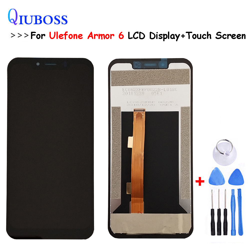 For UleFone Armor 6 LCD Display +Touch Screen Digitizer Assembly Replacement With Tools For UleFone Armor 6