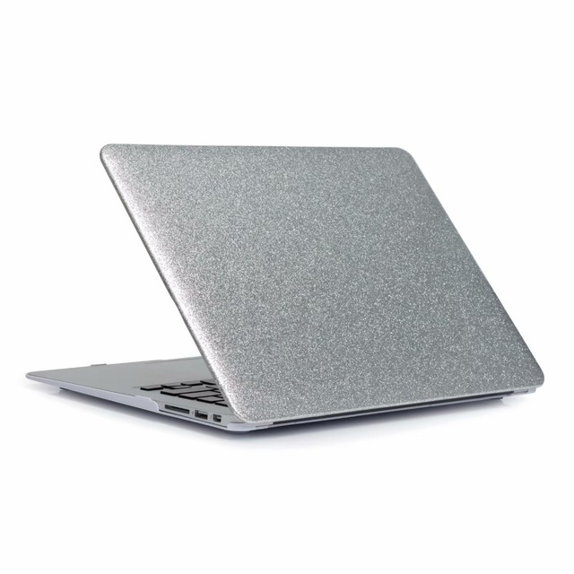 buy popular dbc41 b7887 US $3.84 52% OFF|Hot! Shine Glitter Hard Laptop Case For MacBook Pro Retina  Air 11 12 13 15,for mac Air 13,New Pro 13 15 inch +Keyboard Cover-in ...