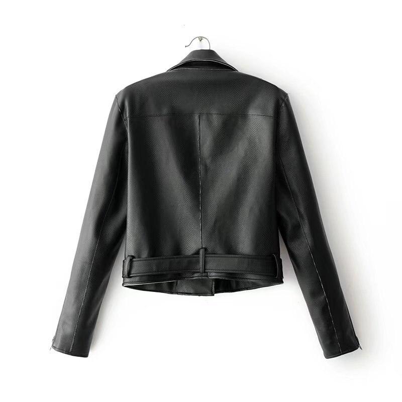 Moto En Zipper Noir Avec rose blanc Cuir Femmes Printemps blanc rose Plus Taille Noir Faux Biker Manteaux Veste Steelsir Des Punk Ceintures 2018 Nouveau WUnAa