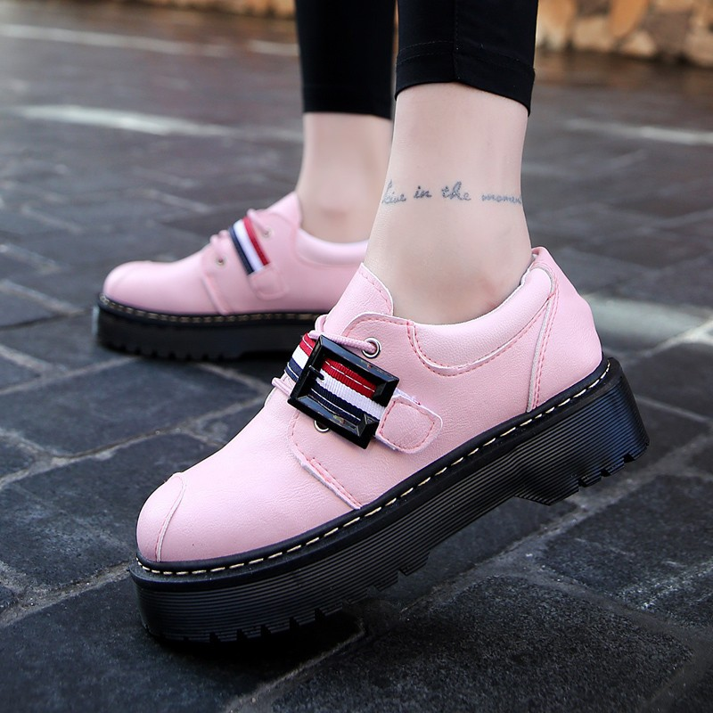 2017 Spring Autumn Platform Women Shoes Patent Leather Lace Up Shoes For Woman Casual Shoes Ladies Flats Zapatos Mujer S151 (26)