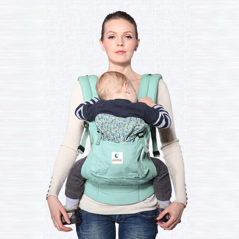 Ergonomic Organic Cotton Baby Carrier Portable Multifunctional Kid Carriage Wrap Mochila Portabebe Adjustable Newborn Baby Sling