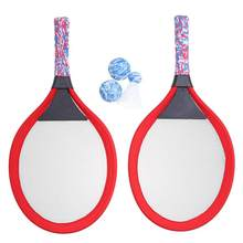 Childrens Tennis Racket Kids Palying Badminton Oval Rackets Game Props for Kindergarten Primary School Outdoor Sports (Red)(China)