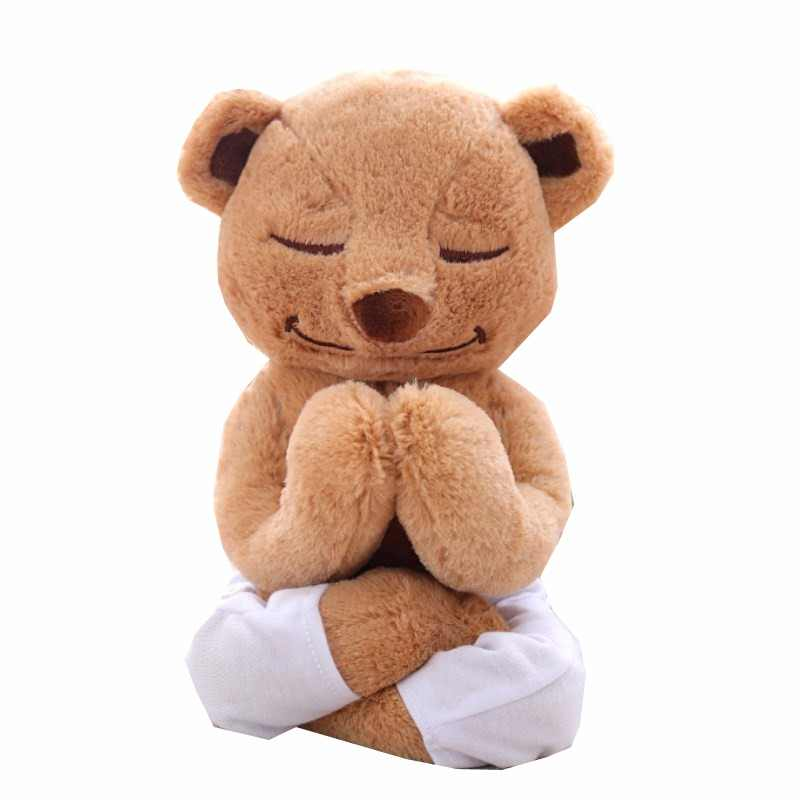 b786188d7d Sport Birthday Plush Yoga Bear Toys Soft Stuffed dolls Cute Animal Doll  Creative Birthday Gifts Plush