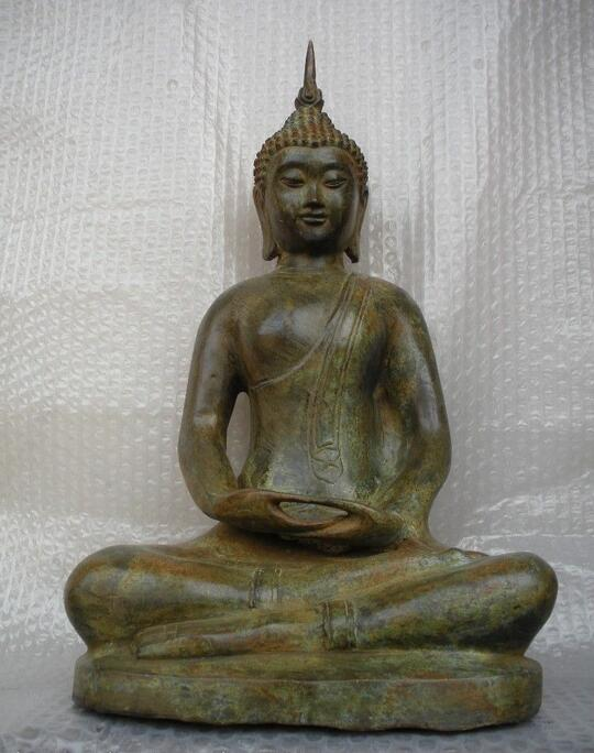 Tibet Folk Temple culte bronze Thaïlande Ayutthaya Sakyamuni Bouddha Statue
