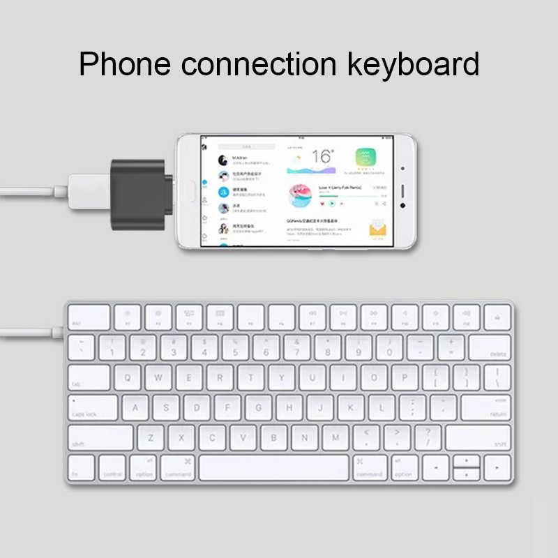 USB 3.0 דיסק און קי OTG כדי סוג-C כבל מתאם עבור סמסונג S9 Huawei שיאו mi mi 8 Leeco Oneplus טלפון ממיר עכבר OTG מתאם