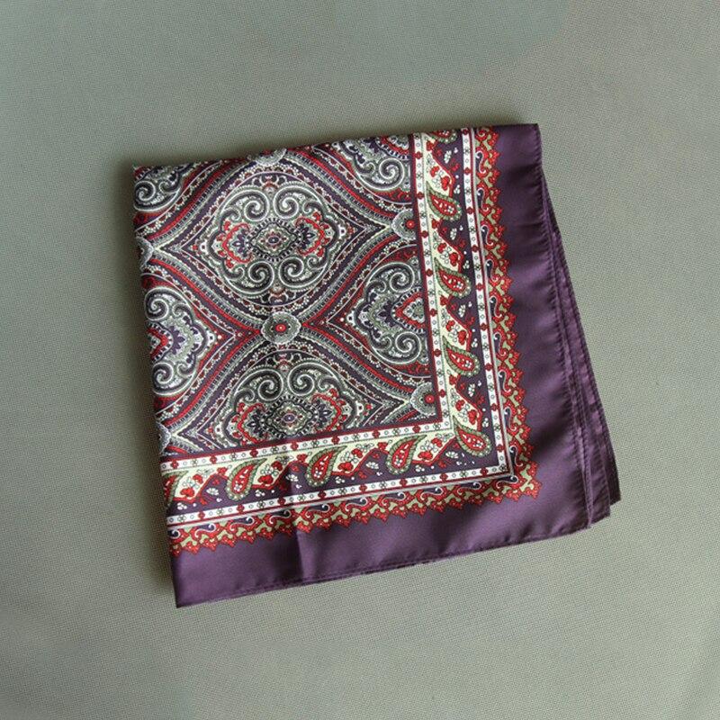 Mantieqingway Men's Business Casual Square Pockets Handkerchief Wedding Hankies Paisley Handkerchiefs Woven Animal Pattern Hanky
