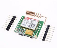 Frete grátis menor sim800c gprs módulo gsm placa de núcleo cartão microsim quad-band ttl porta serial (compatível sim800l sim900a)