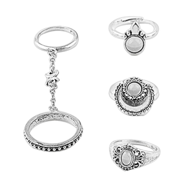 brixini.com - Silver Boho Above Knuckle Rings 5PCS
