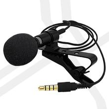Clip-on Lapel Lavalier Microphone Mini Portable Clip-on Lapel Lavalier Microphone Hands-free 3.5mm Jack Condenser Wired Mi ta3f pro clip on lavalier condenser microphone for akg samson 3 pin black akg b004