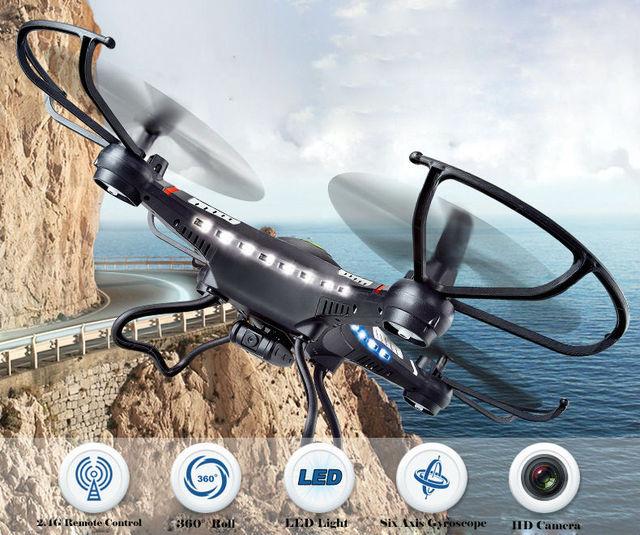 JJRC H8C RC Мультикоптер Drone с дополнительным Камеры HD 2.0 МП 4-CH 2.4 ГГц 6-осевой Гироскоп Удаленного Управления Вертолетом VS X5c F183 FSWB