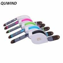 Quwind растяжение Дизайн 1 м 3ft 8pin MicroUSB зарядный кабель для iPhone 6 6 плюс 5 5S Huawei Samsung S6 HTC One M9