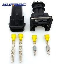 2sets 2Pins Fuel Waterproof EV1 Automotive Electrical Connector 282189-1 282762-1
