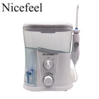 Nicefeel Oral Irrigator Dental Water Flosser With 1000ml Water Tank 7 Tips With Adjustable Pressure Water