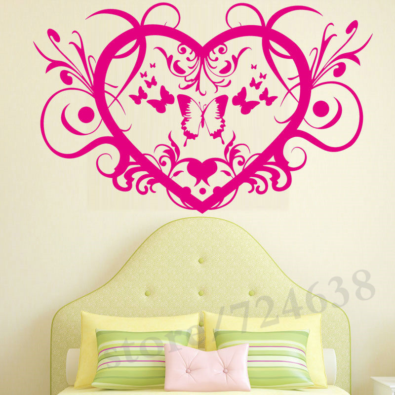 Butterfly Personalized Symbol Bedroom Wallpaper Decals Love Quotes ...