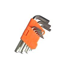 9pc Metric Hex Allen Key Wrench Set Torque Wrench Spanner CRV Hand Tools Keys Bicycle tool Bike tool Screwdriver Long Type mxita adjustable torque wrench hand spanner wrench tool car bicycle repair tools