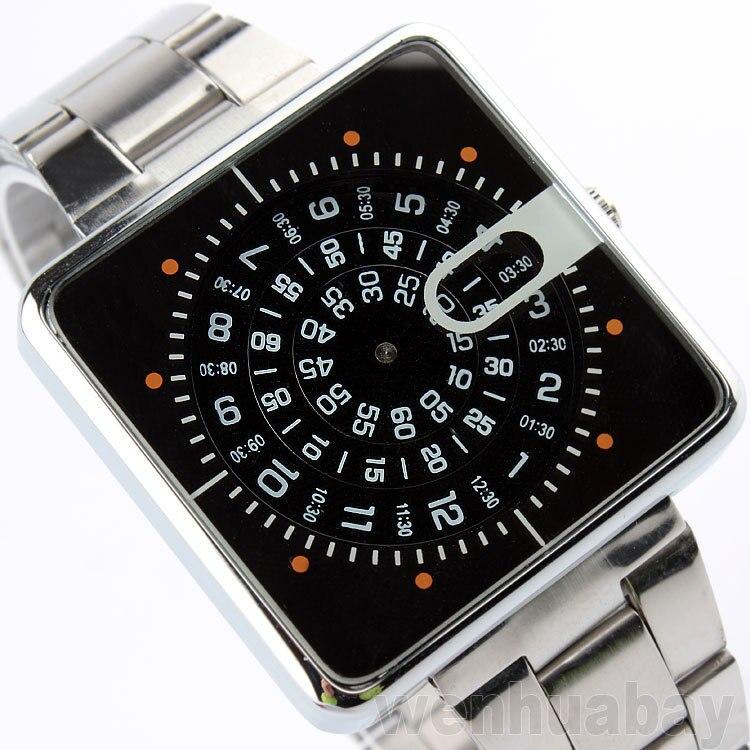 2019 модные брендовые часы с квадратным циферблатом, полностью из нержавеющей стали, мужские спортивные часы, повседневные часы, мужские часы