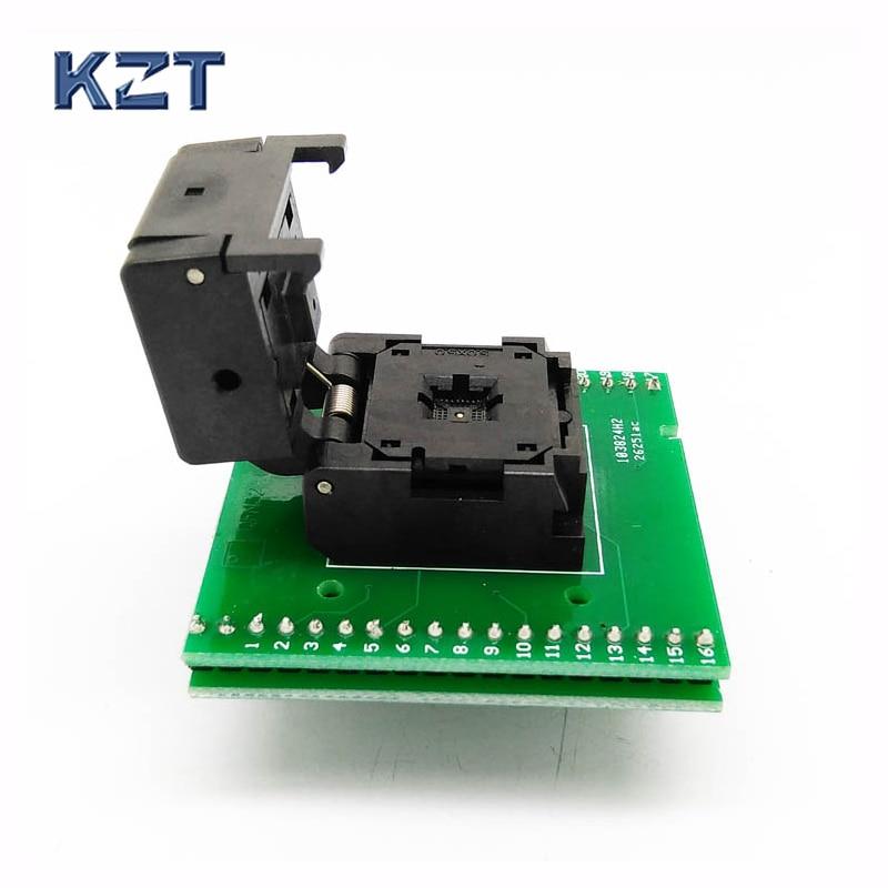 все цены на QFN32 MLF32 IC Pitch 0.5 IC550-0324-007-G Burn in/Test/Programming Socket Clamshell Chip Size 5*5 Flash Adapter Double PCB онлайн