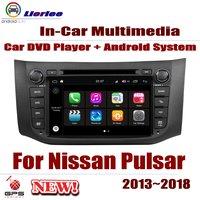 Для Nissan Pulsar (C12) 2013 ~ 2018 автомобильный проигрыватель Android DVD gps навигации Системы HD Экран Радио стерео Встроенный мультимедиа
