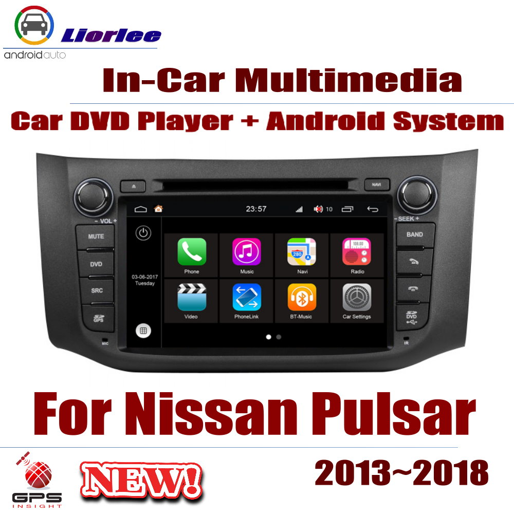 For Nissan Pulsar (C12) 2013~2018 Car Android Player DVD GPS Navigation System HD Screen Radio Stereo Integrated Multimedia