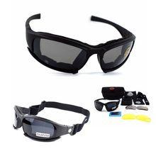 X7 военные очки с 4 линзами, армейские солнцезащитные очки, тактические очки для охоты, стрельбы, страйкбола, велоспорта, мотоцикла, очки