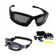 Military-Goggles Tactical-Glasses Cycling Airsoft Hunting-Shooting Army X7 4-Lens Motorcycle