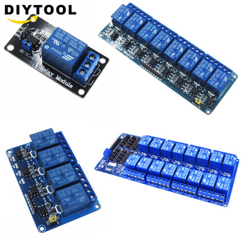 цена на 1pcs 5v 1 4 8 16 channel relay module with optocoupler. Relay Output 1 4 8 16 way relay module for arduino In stock