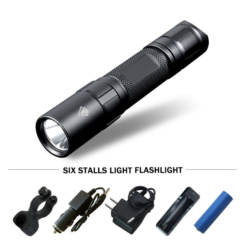 powerful Tactical led flashlight Lanterna self defense torch waterproof lamp 18650battery linterna tatica electric torch zaklamp