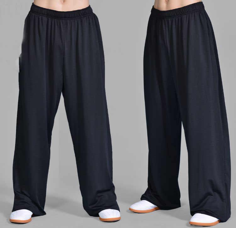 12 kolorów UNISEX lato tai chi spodnie taiji kung fu sztuki walki spodnie treningowe czarny/niebieski/szary/fioletowy /różowy