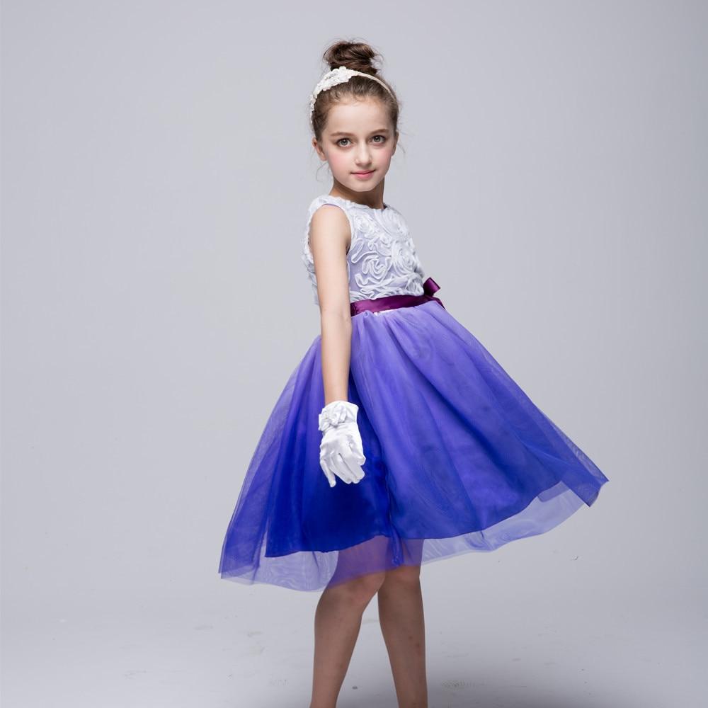 AD Ballerina Dancing Party Girls Cabritos del vestido del Desfile de ...