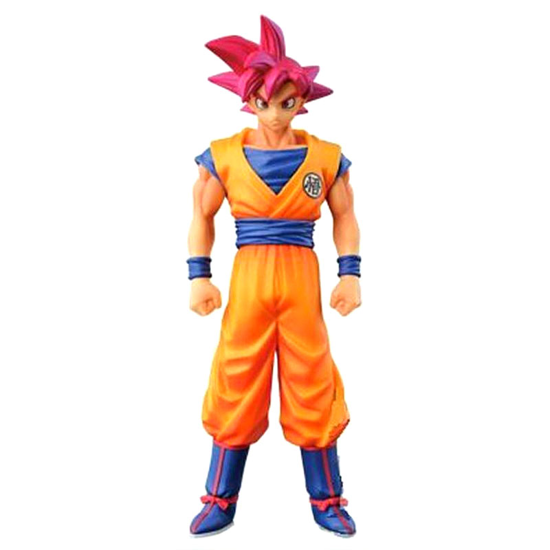 15CM Anime Figure Dragon Ball Son Goku Red Hair Super Saiyan God Model Toys Action Figures Dragonball Collection Gift new hot 21cm dragon ball super saiyan 3 son goku kakarotto action figure toys doll collection christmas gift with box sy889