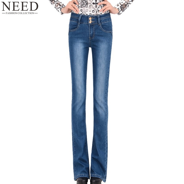 Slim bootcut jeans women's plus