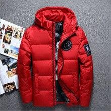 jaqueta masculina men down jacket Men hooded down coat casaco masculino inverno Men Winter Thick section Duck Down outdoor men цены онлайн