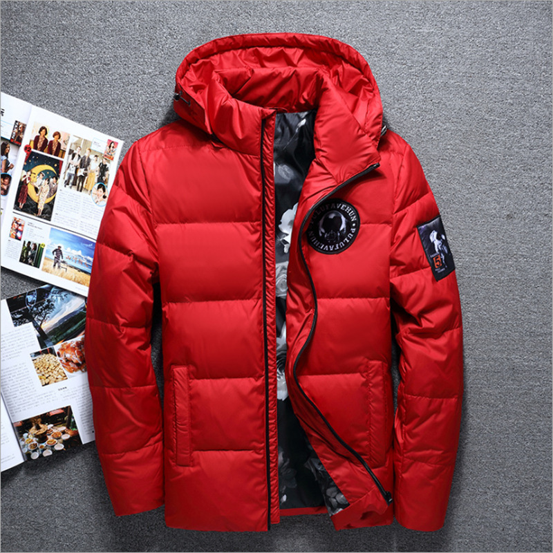 jaqueta masculina men   down   jacket Men hooded   down     coat   casaco masculino inverno Men Winter Thick section Duck   Down   outdoor men