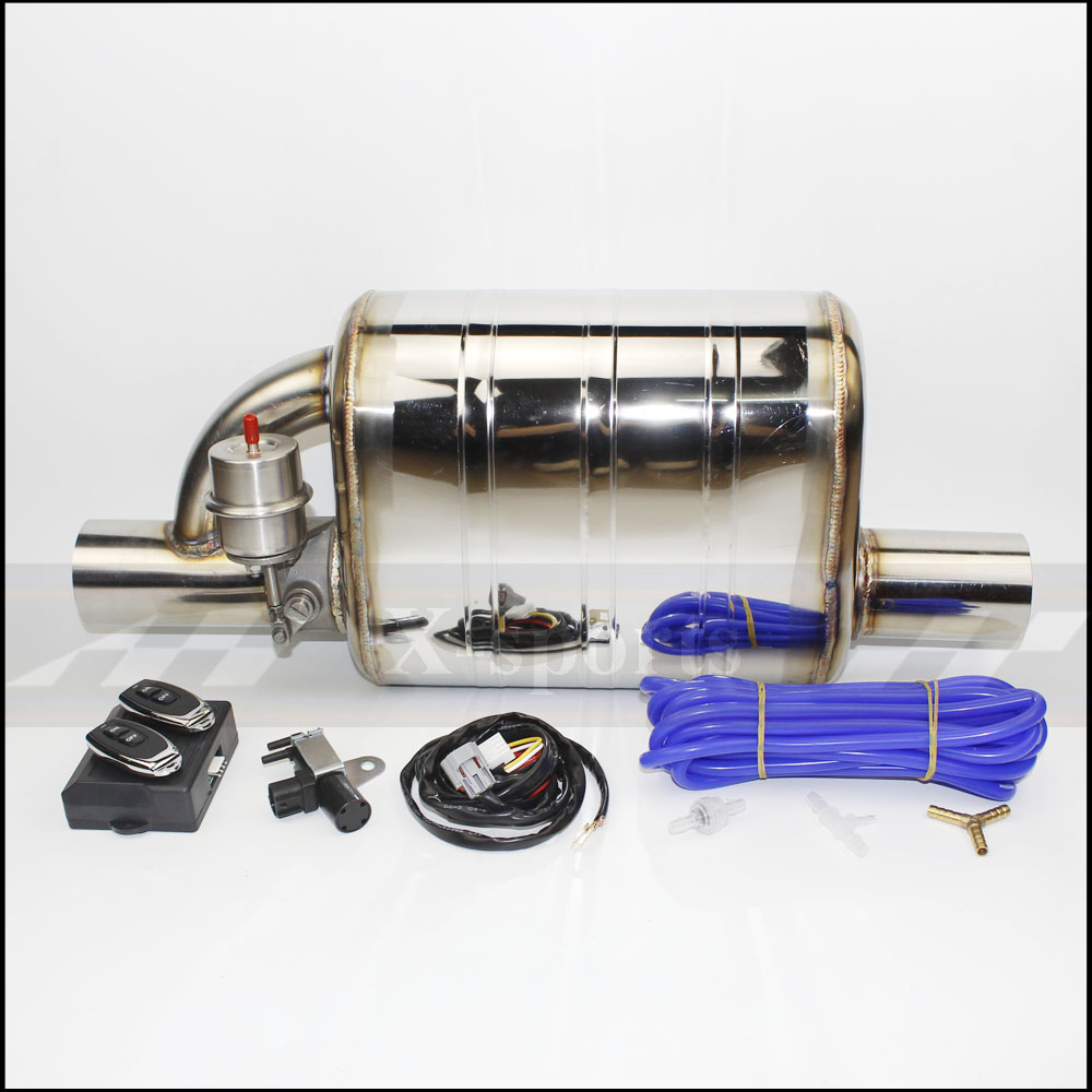 Car exhaust pipe Vacuum pump Variable Valve Mufflers Remote control Stainless steel Universal ID 51mm 63mm 76mm Weld edge