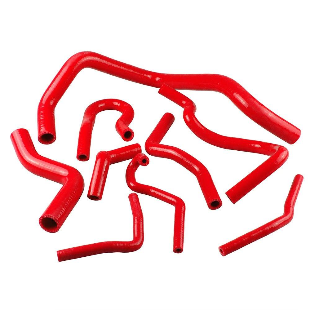 9 pièces Rouge/Bleu/Noir kit de durite de radiateur en silicone pour Honda Civic D15 D16 Sact EG/EK 92-00